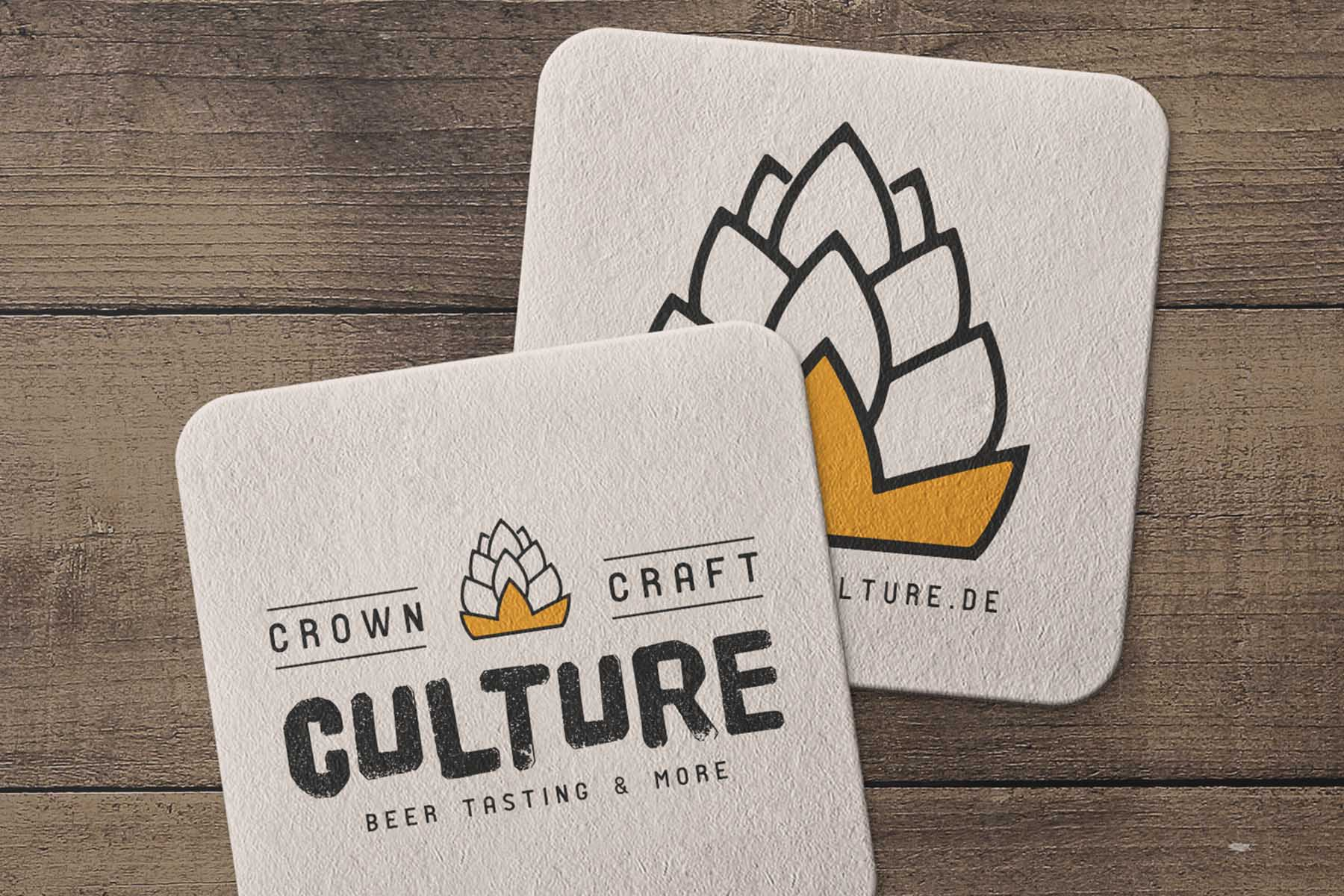 Crown Craft Culture | Logoentwicklung | Bierdeckel