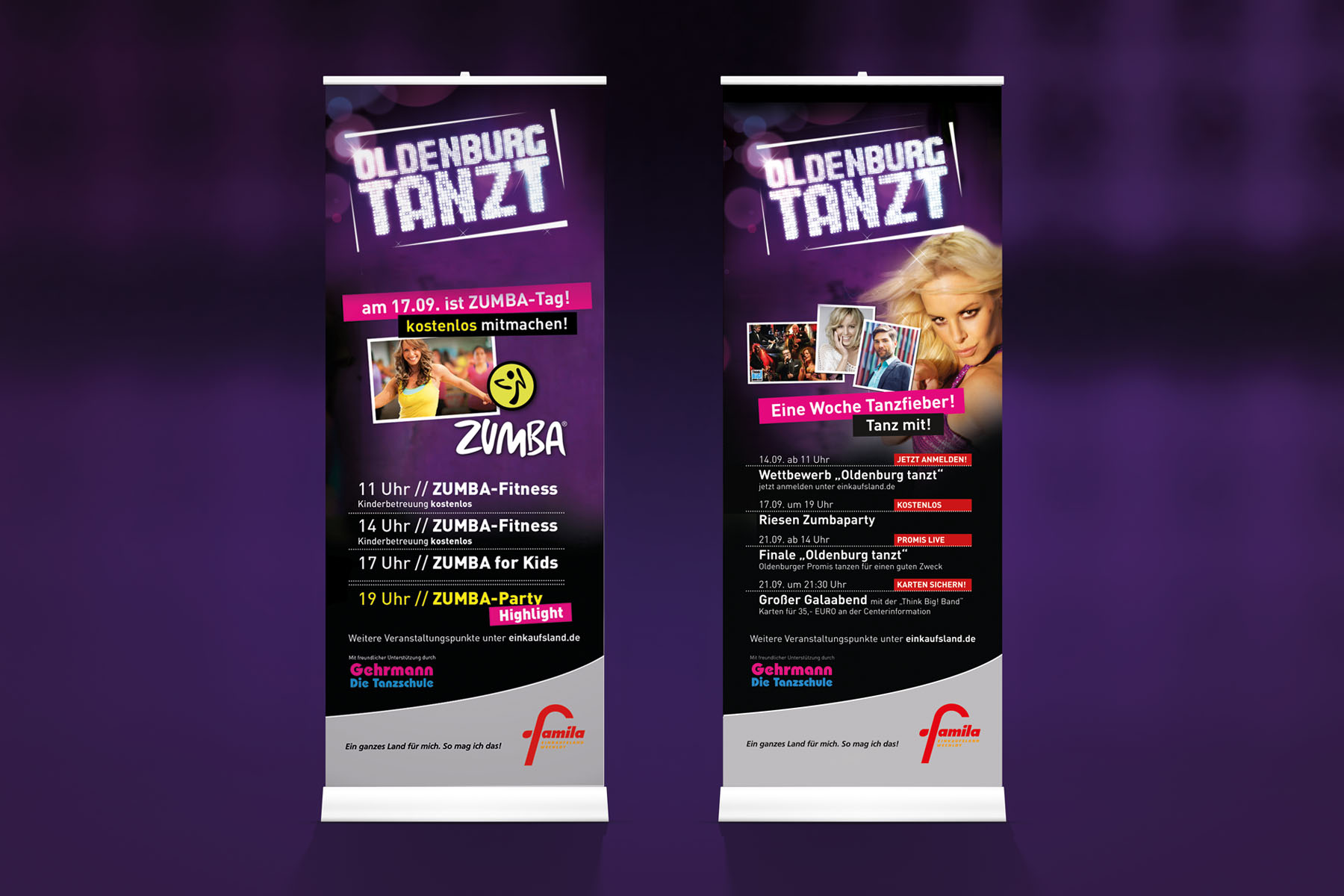 Oldenburg tanzt | Roll-Up-Banner