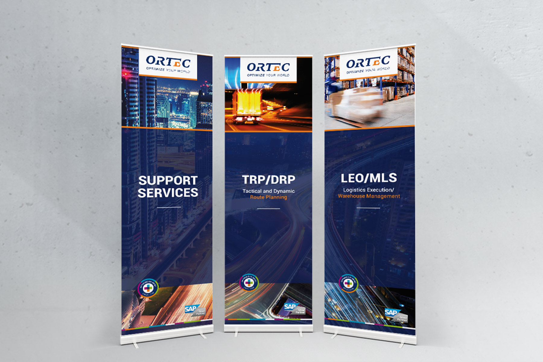 Ortec | Roundtable | Roll-Up-Banner
